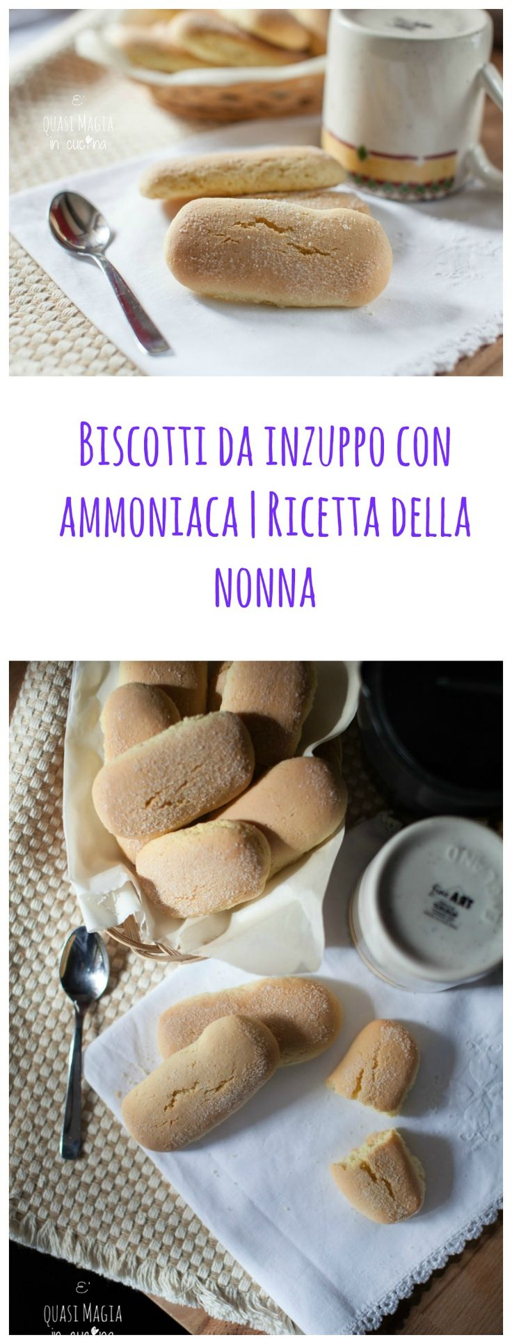 biscotti da inzuppo, con ammoniaca, ricetta della nonna! perfetti da tuffare nel caffèlatte