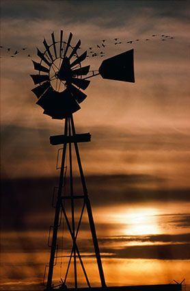 Windmill in Nebraska...we have so many opportunities for beautiful sunsets and also sunrises!