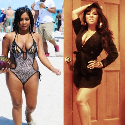 Snooki: Before and After weight loss | si se puede ...