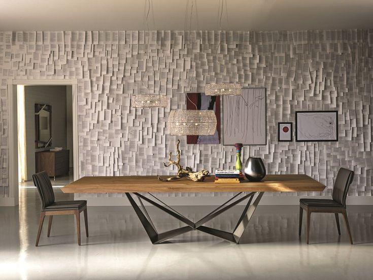Mesa retangular de madeira SKORPIO WOOD by Cattelan Italia | design Andrea Lucatello