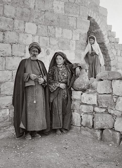 Sheikh of Ramallah and Wife: Ramallah, Palestine 1900-1920