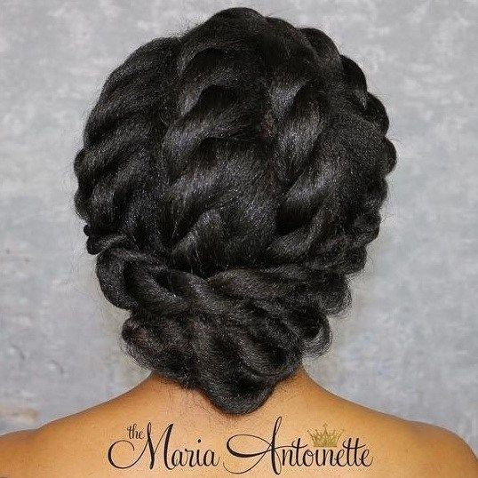 Elegant Twisted Updo For Black Hair                                                                                                                                                                                 More