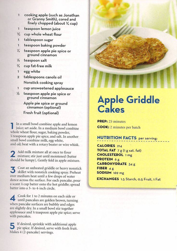 Apple Griddle Cakes - From Better Homes and Gardens - Eat Well, Lose Weight