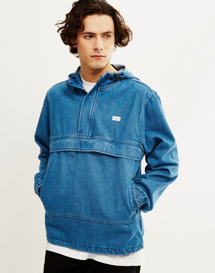 The Hundreds Cruiser Anorak Jacket Blue | Shop men's lightweight jackets, coats and clothing at The Idle Man