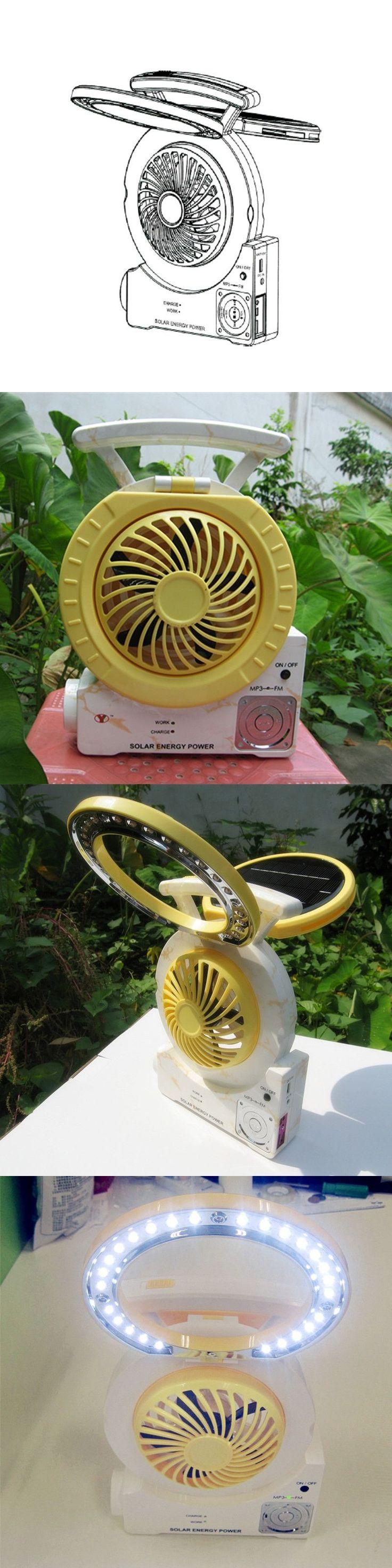 Multi-function Portable Solar Light Fan  26LEDs solar led audio lighting desk fan lamp with flash spotlight for Camping Fishing