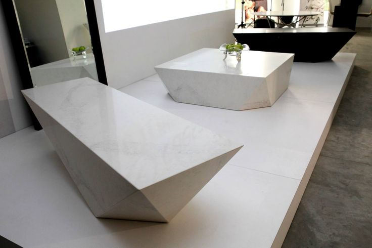 Caesarstone Arctic Benches by Cellini