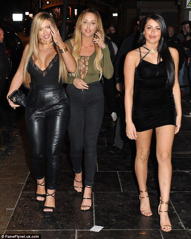 Holly Hagan busty display in plunging top on Geordie Shore night out