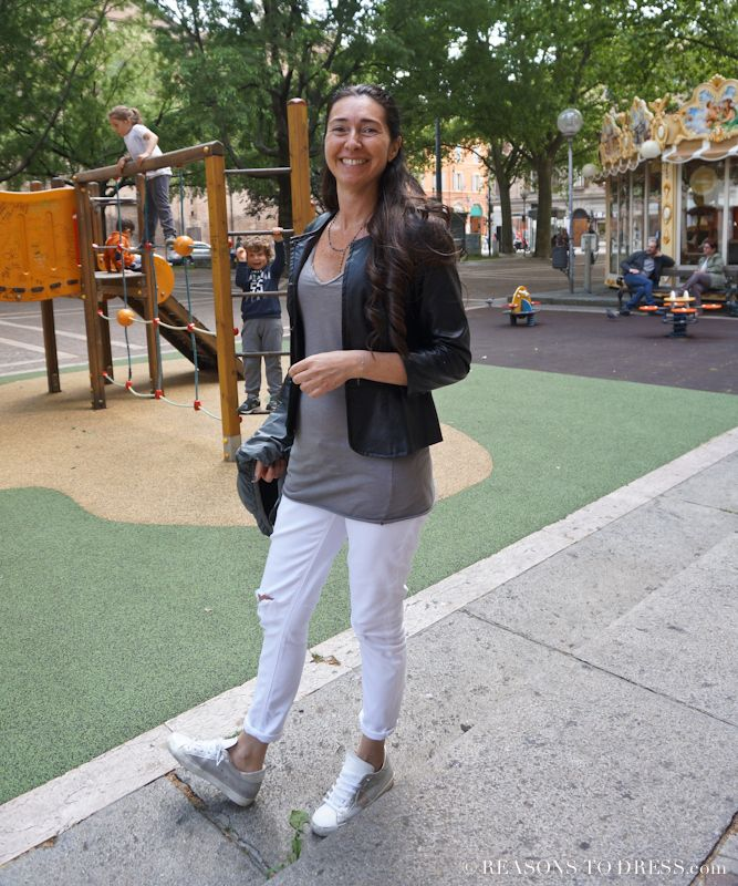 Trending in Italy : Philippe Model Luxury Shoes for Spring - real mom street style in italy #reasonstodress - Reasons to Dress