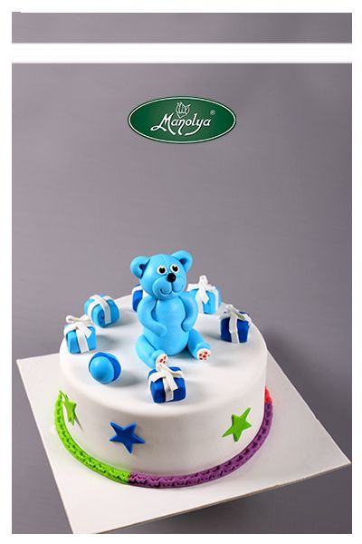 #manolyapastanesi #patisserie #istanbul #cake #celebration #birthday #cakedesign #yummy #kids #bear #blue