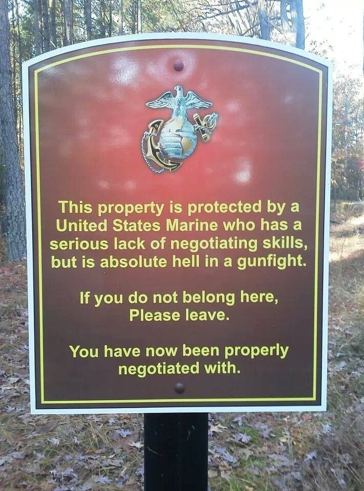 How Marines are taught to negotiate. ***WE NEED A MARINE IN THE WHITE HOUSE***....And not one with a reset button                                                                                                                                                      More
