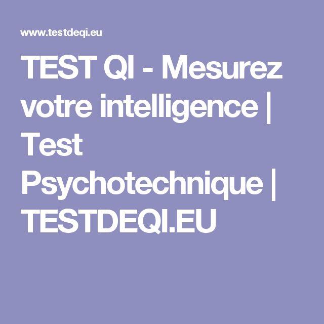 TEST QI  - Mesurez votre intelligence | Test Psychotechnique | TESTDEQI.EU