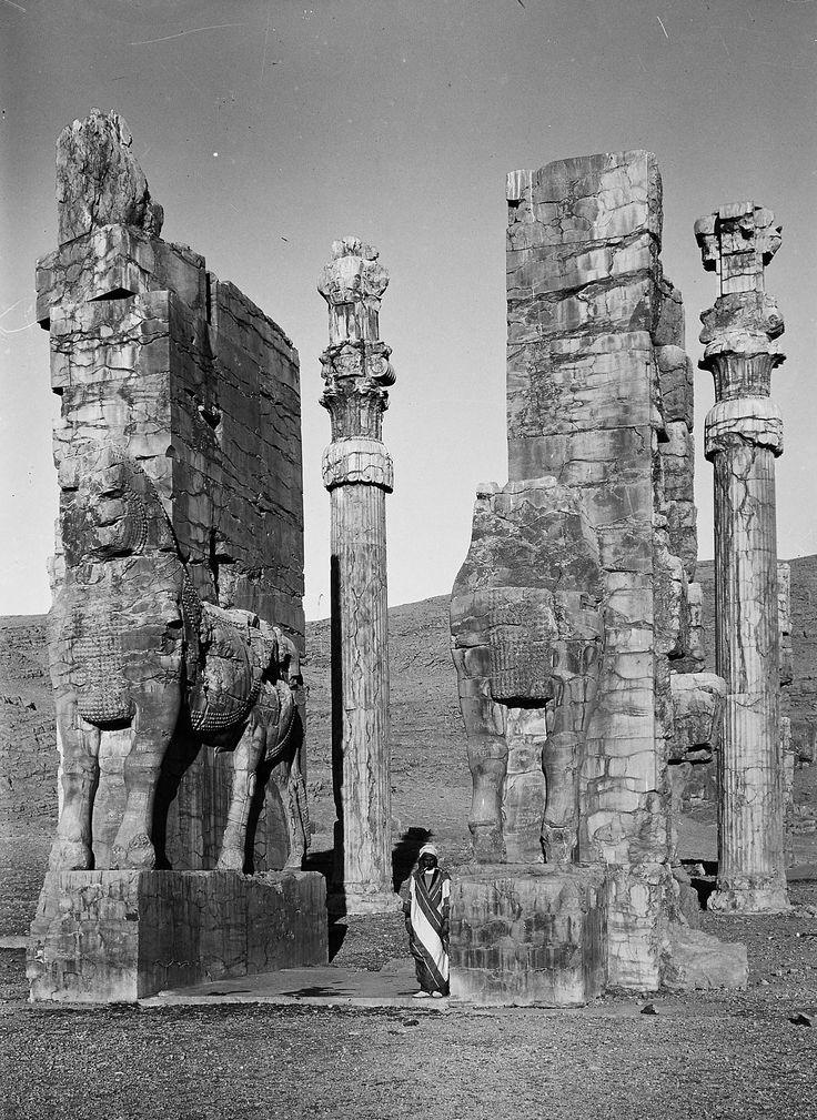 """Ruins of Persepolis, Iran, circa 1923."