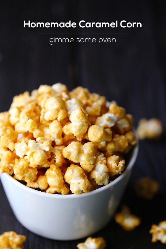 Homemade Caramel Corn 1/2 cup (1 stick) salted butter 1 cup light brown sugar, packed 1/4 cup light or dark corn syrup 1 1/2 tsp. salt 1/4 tsp. baking soda 1/2 tsp. vanilla extract 12 cups popped popcorn (about 1 cup kernels before popped), preferably warm from being freshly popped