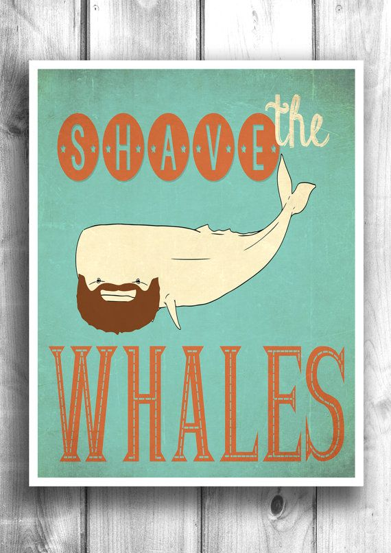 Shave the whales - Typographic poster inspirational print wall art by HappyLetterShop