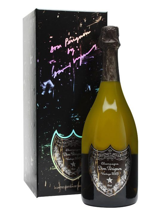Dom Perignon 2003 Vintage Champagne / David Lynch Edition : Buy Online - The Whisky Exchange - Not only is this a bottle of Dom Perignon's intense 2003 vintage champagne, but it arrives in a very special limited edition box and label designed by maverick film director David Lynch, the man be...