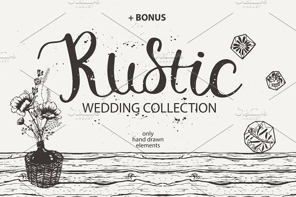 RUSTIC wedding collection by OlgaAlekseenko on @creativemarket