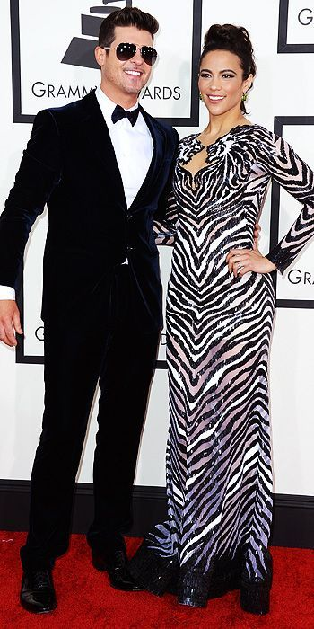 JK Style - Grammy Red Carpet Review - Paula Patton and Robin Thicke