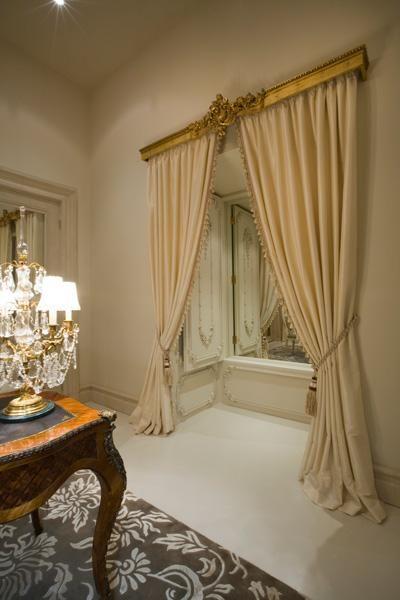 French decor~love those drapes