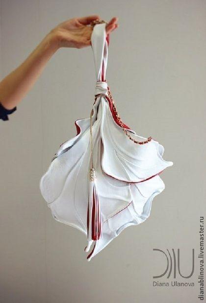 """Женские сумки ручной работы. Ярмарка Мастеров - ручная работа Сумка кожаная """"Ирис"""" белый. Handmade."""