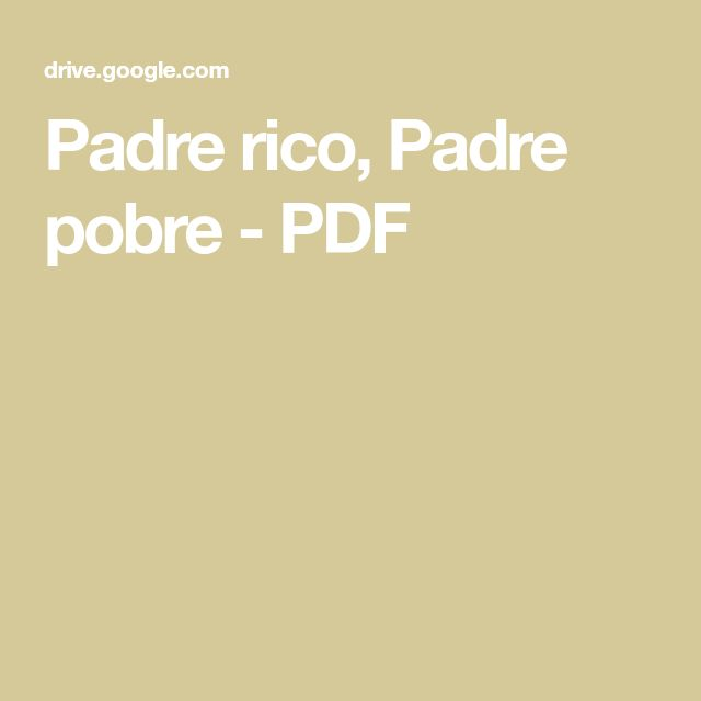 descargar padre rico padre pobre pdf google drive