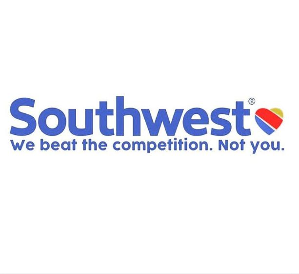 """Southwest not pulling punches in an advert: """"We beat the competition. Not you."""""""