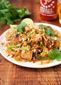 Spaghetti Squash Pad Thai Recipe. This HEALTHY and DELICIOUS meal is a great way to eat more vegetables! Squash is the star in this homemade thai takeout food classic. Recipes for easy dinners like this are MUST TRY recipes. Top with chicken or tofu. You'll need tamarind paste, rice wine vinegar, fish sauce, spaghetti squash, peanut oil, bean sprouts, garlic, and just a few more pantry friendly ingredients.