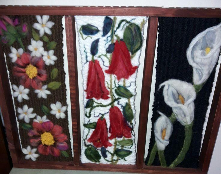 Tríptico floral