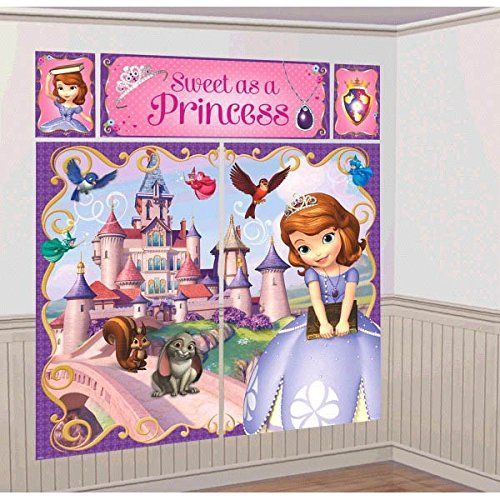 Disney Sofia The First Princess Birthday Party Scene Setters Decoration 5 Pack Multi Color 59 x 65 * Check out the image by visiting the link.