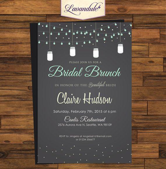 Bridal Brunch Jar Chalkboard_inv_003 by Lavandule on Etsy