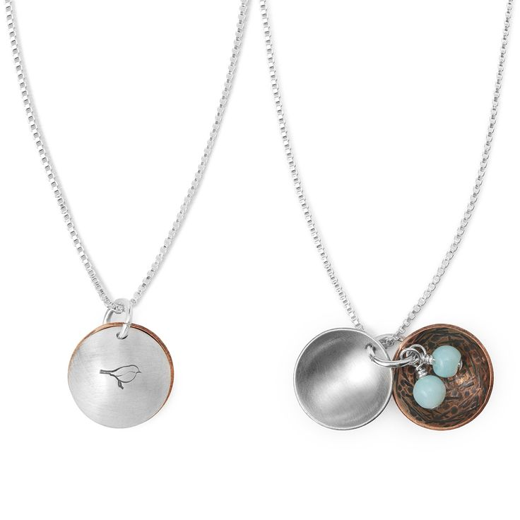 NEST EGG NECKLACE | Mother Bird, Grandmother, Sentimental Jewelry, Baby Birds, For New Mother, Sterling Silver Jewelry, Opal Jewelry | UncommonGoods