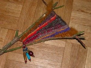Tapestry on stick loom