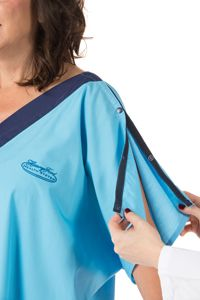 "Say goodbye to that drafty backside! The new ""Model G"" patient gown, designed at Henry Ford Hospital, blends #style and #comfort for an all around better experience!"
