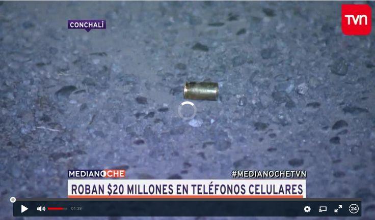 Conchalí: Roban 20 millones de pesos en celulares Entre 15 a 20 sujetos a bordo de tres vehículos de