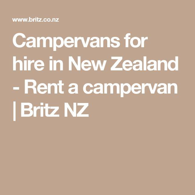 Campervans for hire in New Zealand - Rent a campervan   Britz NZ