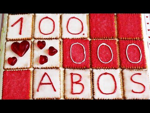Bunter BUTTERKEKS-KUCHEN für 100.000 ABONNENTEN