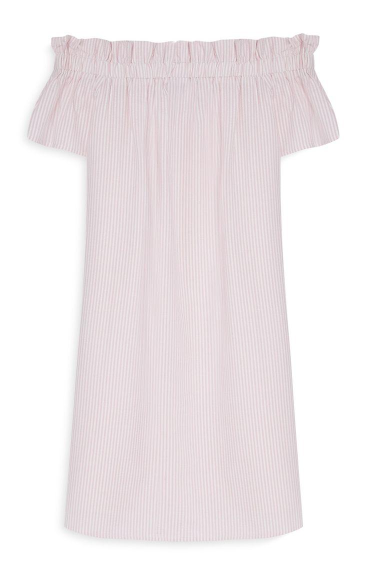 Primark - Robe rose à épaules dénudées