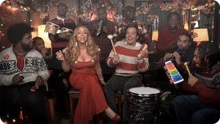 "Jimmy Fallon, Mariah Carey & The Roots: ""All I Want For Christmas Is You"" (w/ Classroom Instruments), via YouTube."
