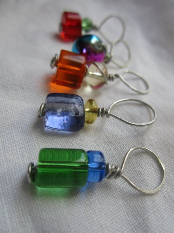 Like these stitch markers - need to learn to wire wrap