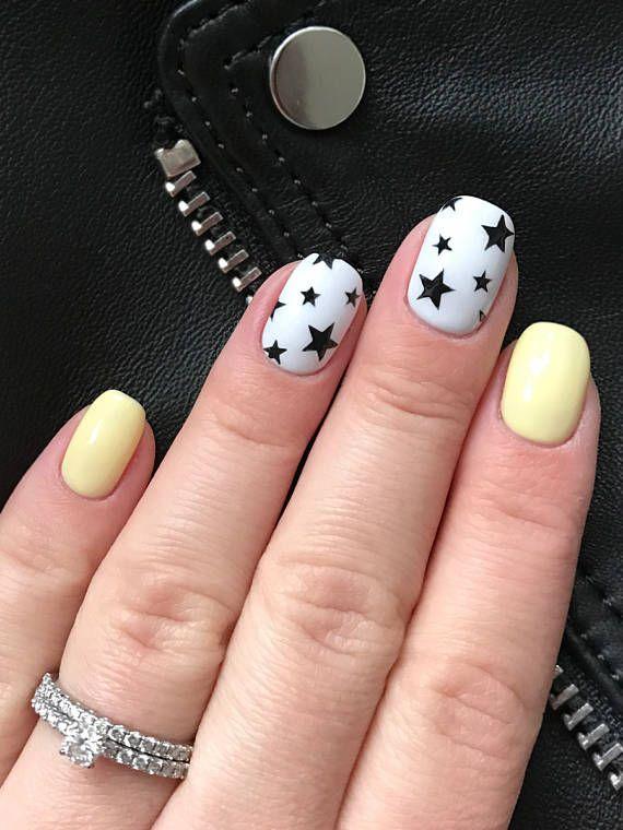 Rock Star pattern Nail Art Stencils  incredible nail art