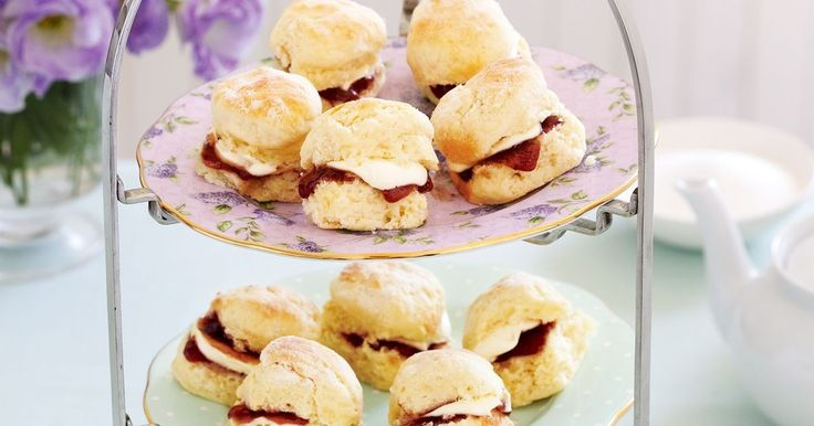 These cute baby scones make a wonderful treat for afternoon tea.