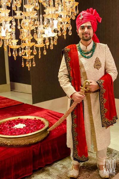 Indian Groom Wear - Candid Kama Photography Info & Review | Wedding Photographers in Dubai | WedMeGood #wedmegood