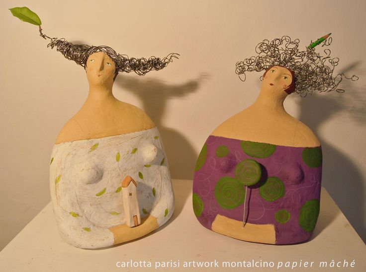 I started creating figures of women for my first sculpture exhibition. In the welcoming and generous feminine forms...