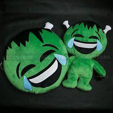 Halloween Emoji Pillow Doll Cushion Soft Emoticon Stuffed Toy Set - Frankenstein