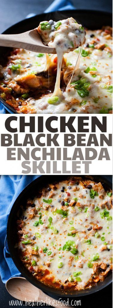 , zippy, and quick! This one pan chicken and black bean enchilada ...