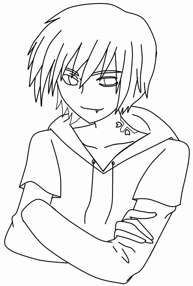 Easy Anime Coloring Pages Unique 30 Ideas For Anime Boys Coloring Pages Easy Best Coloring In 2020 Anime Drawings Boy Drawing Base Anime