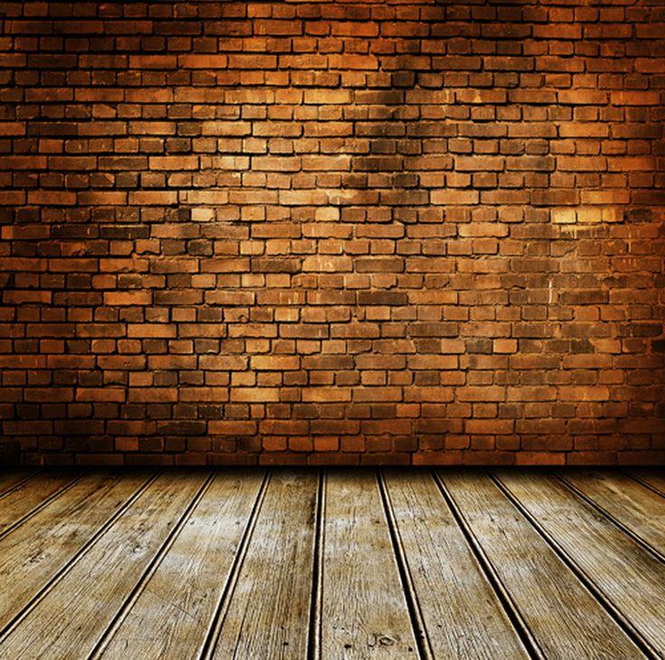 Tinged Brick Wall & Wood Floor