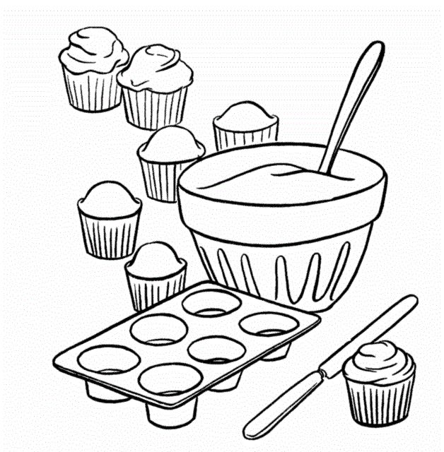 coloring pages of baking - photo#5