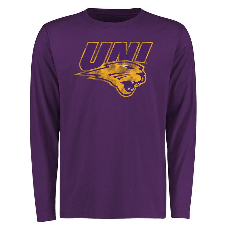 Northern Iowa Panthers Big & Tall Classic Primary Long Sleeve T-Shirt - Purple