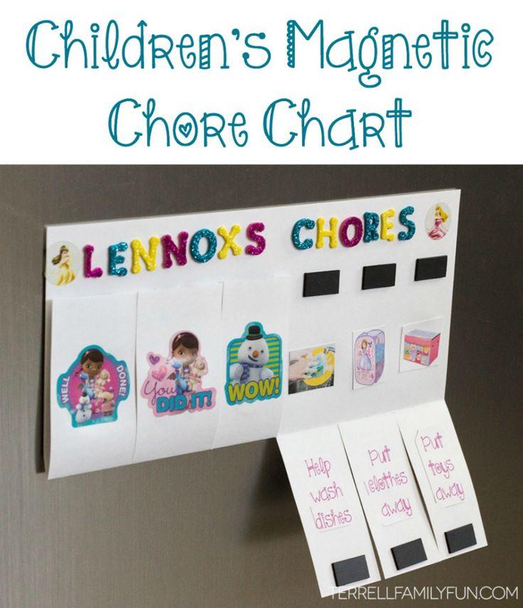 DIY Magnetic Chore Chart for Kids, Chore chart