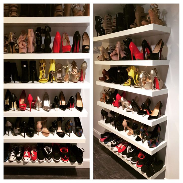 Shoe Shelf I Made For My Walk In Closet Using Ikea Lack